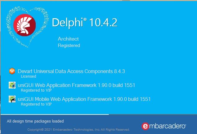 UniGUI 1.90.0.1551 安装说明
